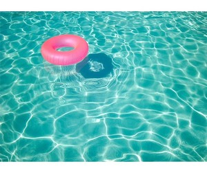 summer, pool, and water image