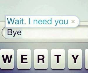 love, bye, and text image