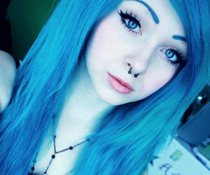 hair, scene, and blue image