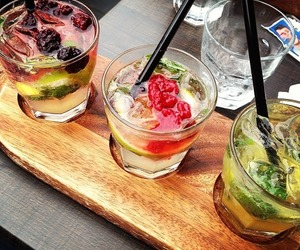drink, cocktail, and fruit image