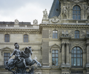 architecture, louvre, and museum image