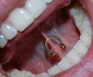 piercing, mouth, and teeth image