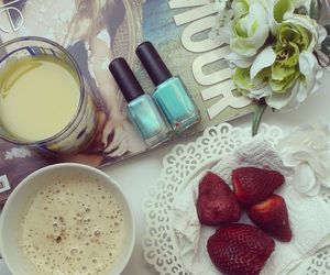 coffe, flowers, and nails image