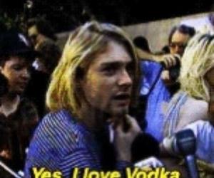 vodka, kurt cobain, and nirvana image