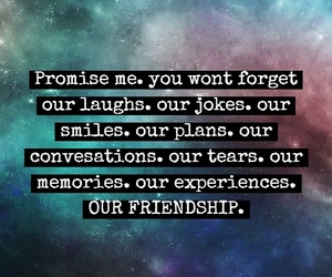 friendship, galaxy, and quotes image