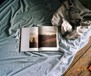 book, photography, and bed image