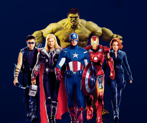 black widow, the avengers, and thor image