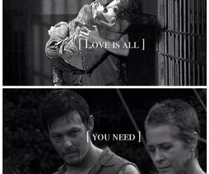 blacka nd white, walking dead, and twd image