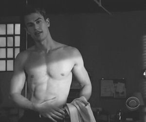 abs, shirtless, and divergent image