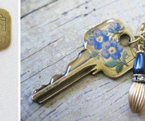 key, diy, and flowers image