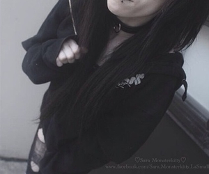 goth, grunge, and Piercings image