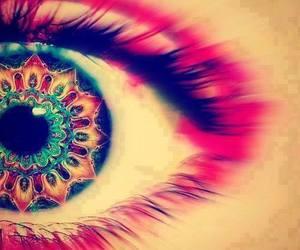 eye, eyes, and art image