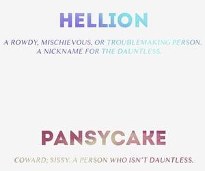 divergent, pansycake, and nose image