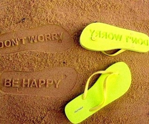 beach, quote, and sand image