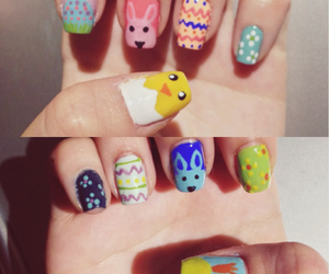 easter, manicure, and nail art image