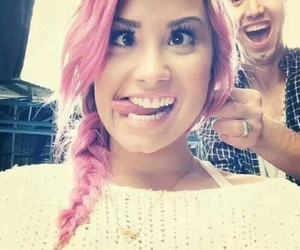 demi lovato, demi, and pink image