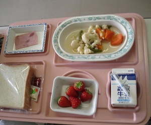 food, pink, and strawberry image