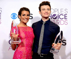 lea michele, chris colfer, and people choice awards image
