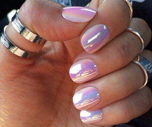 nails, pretty, and mid rings image