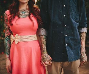 couple, Tattoos, and ink image
