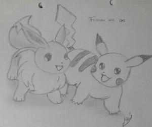 drawing, eevee, and illustration image