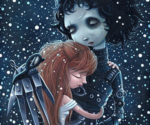 edward scissorhands, movie, and drawing image
