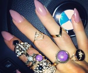 claws, nail art, and rings image