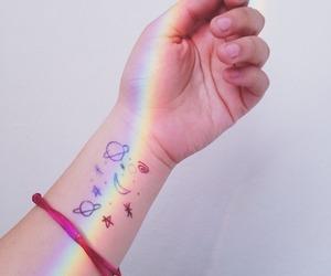 rainbow, galaxy, and grunge image