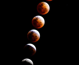 moon, eclipse, and red image