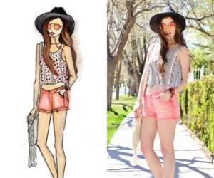 black hat, charlotte russe, and fashion blogger image