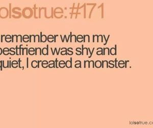 funny, monster, and quote image
