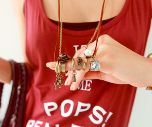 outfit, red, and purse image