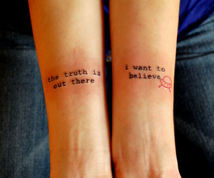 tattoo, quotes, and ufo image