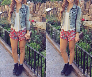 disneyland, fashion, and outfit image