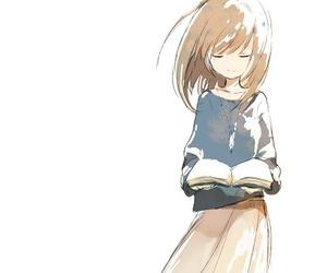 anime, book, and girl image