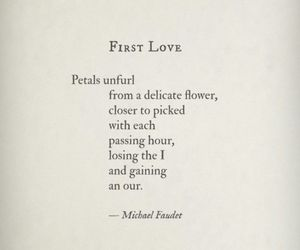 first love, life, and poem image