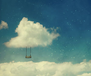 sky, clouds, and swing image
