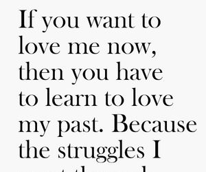 love, quote, and past image