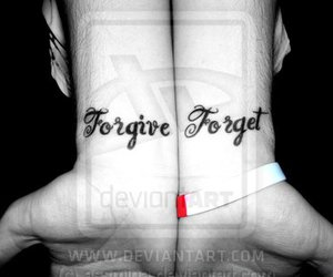 forget, forgive, and tattoo image