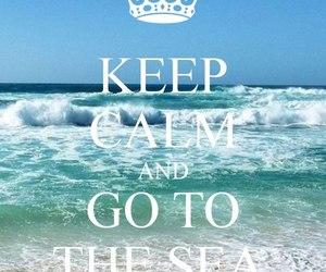 sea, summer, and keep calm image