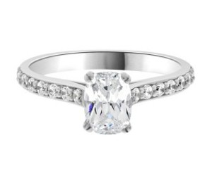 side stone diamond ring image