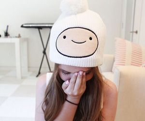 beanie, adventure time, and finn the human image
