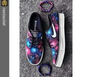 galaxy, nike, and shoes image