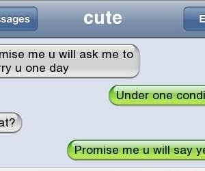 marry, proposal, and text messages image