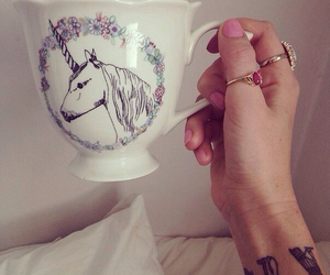 unicorn, cup, and tea image