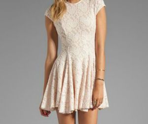 dress, little, and white image