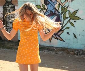 butterflies, dancing, and girl image