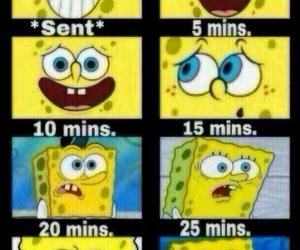 spongebob, message, and funny image