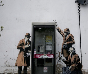 bansky, new, and street artist image