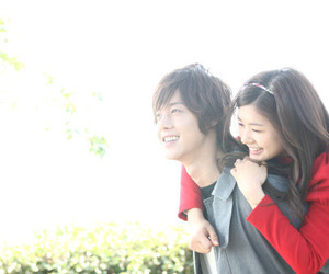 playful kiss, kim hyun joong, and happy image